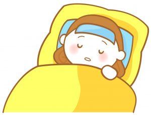 インフルエンザで休む