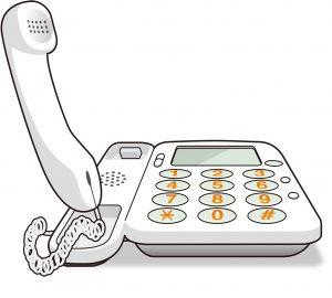 NTTの固定電話で通話中を調べる