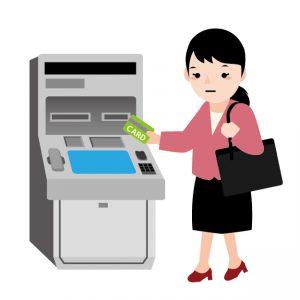 郵便局で暗証番号の確認にキャッシュカードのロック解除