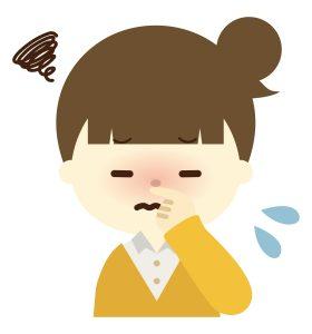花粉症で鼻水