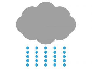 花粉症で雨の日