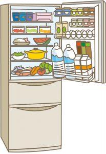 引越しで冷蔵庫の中身