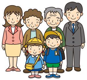 入学式で祖父母
