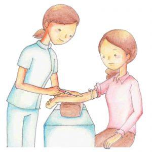 健康診断血液検査でする注射