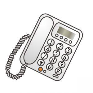 電話の受話器が外れたまま