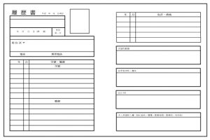 基本情報技術者試験の履歴書の書き方