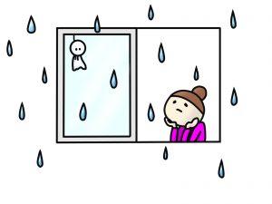 花火大会なのに雨
