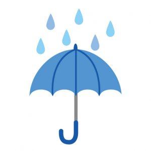 大学祭で雨